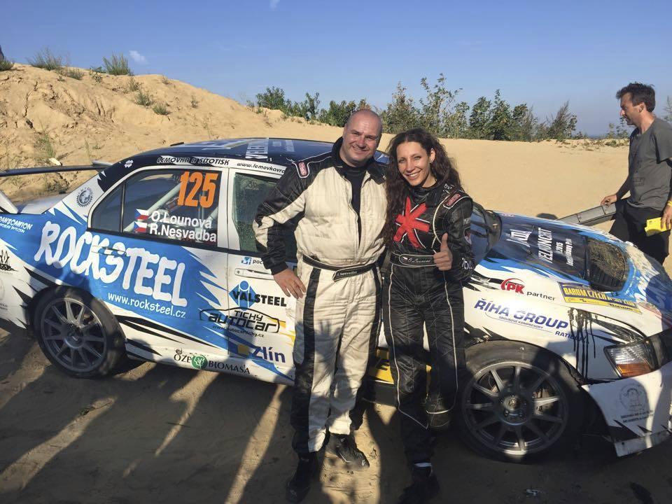 Olga Lounová havarovala na Barum Rallye.