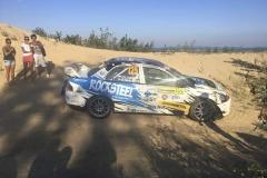 Olga Lounová zdemolovala své závodní auto.