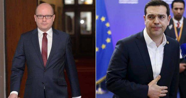 Premiér proti premiérovi. Sobotka si rýpl do Řecka, Tsipras i do Česka.